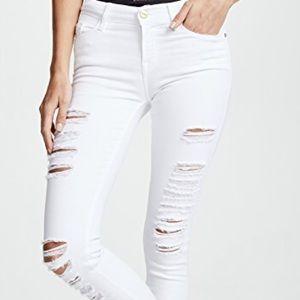 White denim jeans frame